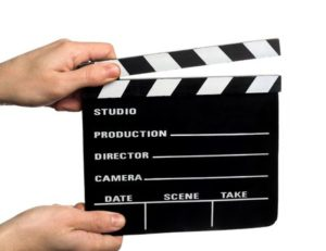 2571500 - hands holding a movie clapper