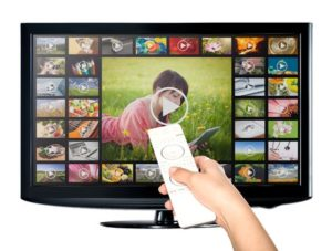 41718579 - video on demand vod service on tv television concept.
