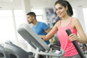 54018600 - young multiracial people training in the gym