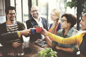 52337615 - people meeting friendship togetherness coffee shop concept